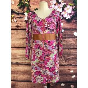 Tracy Negoshian Dresses - Tracy Negoshian Elena Paisley Floral Dress Size M